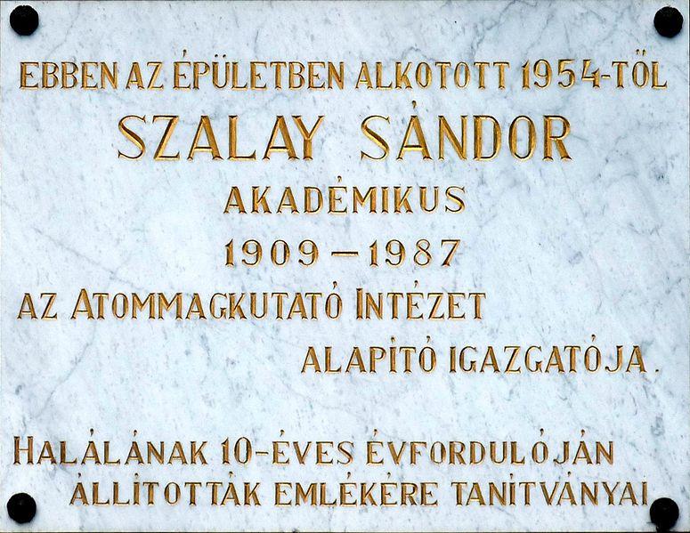 Fájl:Szalay Sándor plaque (Debrecen Bem tér 18c).jpg