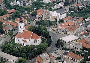 Szikszó - Aerial view