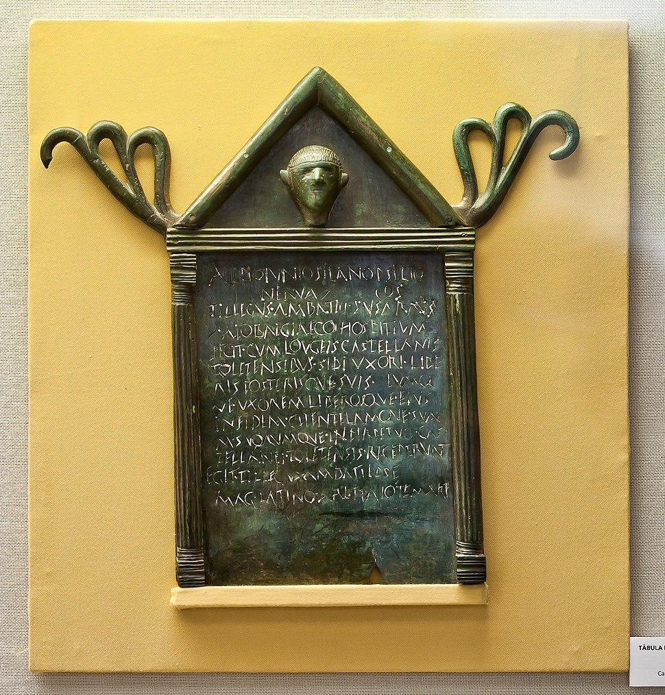 Tábula de hospitalidade - bronce - O carbedo - Esperante - O Folgoso do Courel. Museo Provincial de Lugo-2