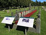 Tønsberg Old Cemetery Norway Commonwealth War Graves Commission British WWI memorial 1916 WWII graves 1945 posters 2016-08.jpg