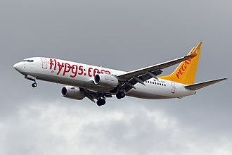 Pegasus Airlines Flight 8622 - TC-CPF, the aircraft involved in the accident, seen in 2013