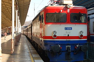 TCDD E 52500 - Express train pulled by E52514 arrived at Sirkeci Terminal, Istanbul