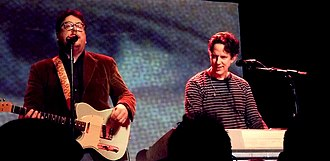 Flood (They Might Be Giants album) - Flansburgh and Linnell in 2012 performing a dual Lincoln and Flood show