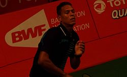 TOTAL BWF World Champs 2015 Day 2 Osleni Guerrero.jpg