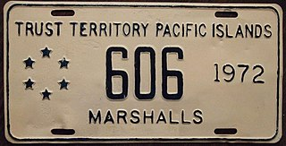 Vehicle registration plates of the Marshall Islands Marshall Islands vehicle license plates