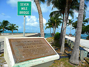 Seven Mile Bridge - Entrance plaque