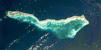 Tabiteuea - Satellite photograph of Tabiteuea (NE top)
