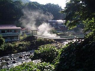 hot spring resorts in the Akinomiya Hot Spring Resort area of Yuzawa, Akita Prefecture, Japan