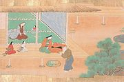 Taketori-no Okina takes Kaguya-hime to his home, Drawn by Tosa Hiromichi, c. 1600