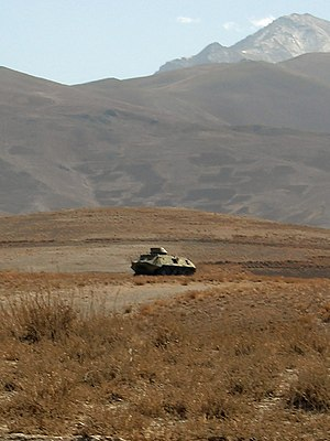 Taliban BTR-60PB in Wardak Province, just off ...