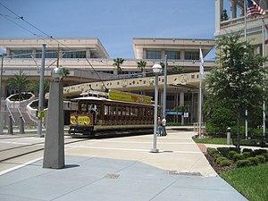 TECO Line Streetcar System - Image: Tampa Streetcars Aug 2008Downtown Turn Breezer