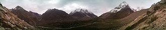 Tapovan - Tapovan from 100 metre above. Alt. 4478 metre ASL.