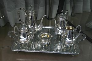 Tea set - A Spanish silver tea set