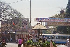Yelahanka Gate Anjaneya Temple - The ancient Yelahanka Gate Anjaneya Temple at the Avenue road crossing