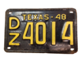 Texas 1948 license plate.png