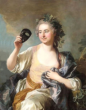 Thalia (Muse) -  Thalia, Muse Of Comedy by Louis-Michel van Loo.