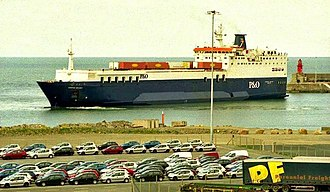 """MS Baltic Ferry - Image: The """"European Diplomat"""" at Rosslare geograph.org.uk 1008519"""