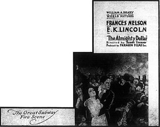 The Almighty Dollar (1916 film) - Advertisement