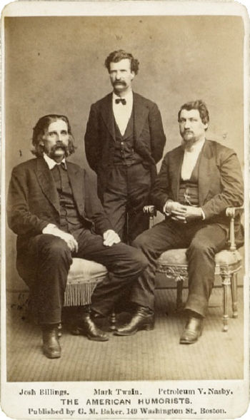 English: The American Humorists albumen print ...