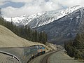 The Canadian, heading east through the Rocky Mountains, en route towards Toronto.jpg