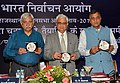 The Chief Election Commissioner, Shri O.P. Rawat along with the Election Commissioners, Shri Sunil Arora and Shri Ashok Lavasa releasing the publicity materials, at the poll-preparedness review meeting, in Jaipur (Rajasthan) (1).JPG