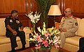 The Chief of Gen. Staff, Afghan National Army, Gen. Sher Mohammad Karimi with the Chief of Army Staff, Gen. V.K. Singh, in New Delhi on October 21, 2010.jpg