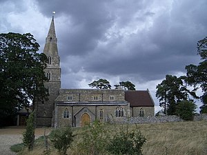 Grade I listed buildings in Bedfordshire - Image: The Church of St Nicholas at Chellington geograph.org.uk 298027