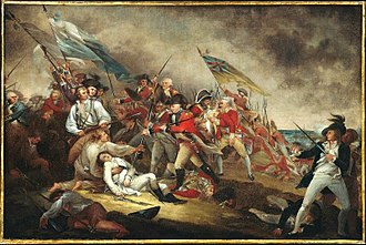 Boston campaign - The Death of General Warren at the Battle of Bunker Hill by John Trumbull