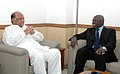 The Director General, Food and Agriculture Organisation (FAO), Dr. Jacques Diouf calls on the Union Minister of Consumer Affairs, Food and Public Distribution and Agriculture, Shri Sharad Pawar, in New Delhi.jpg