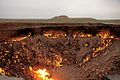 The Door to Hell (in the daytime) - Turkmenistan, Darvaza - panoramio.jpg