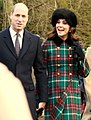 The Duke and Duchess of Cambridge on Christmas Day 2017.JPG