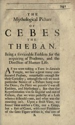 The Mythological Picture of Cebes the Theban
