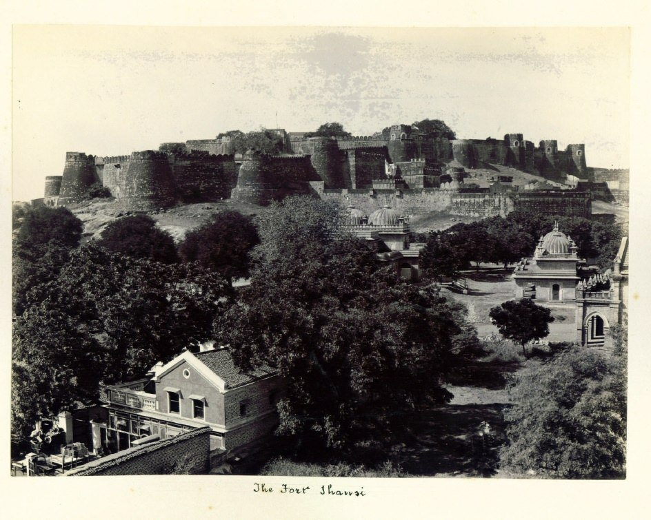 The Fort, Jhansi, a gelatin silver photo, c.1900