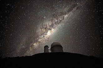 Astronomy - The Milky Way as viewed from La Silla Observatory