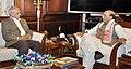 The Governor of Assam, Shri Banwarilal Purohit calling on the Union Home Minister, Shri Rajnath Singh, in New Delhi on December 13, 2016.jpg