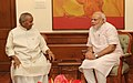 The Governor of Rajasthan, Shri Kalyan Singh calling on the Prime Minister, Shri Narendra Modi, in New Delhi on September 09, 2014.jpg