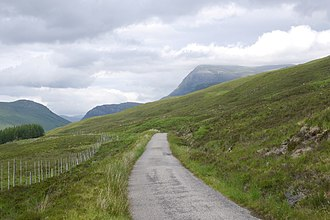 Ben Hope - Image: The Hope Road, Strath More (geograph 4677810)