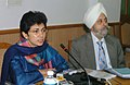 The Minister of State (Independent Charge) for Housing and Urban Poverty Alleviation Kumari Selja briefing the press in New Delhi on December 07, 2007.jpg