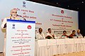 The Minister of State for Health & Family Welfare, Shri Ashwini Kumar Choubey addressing at the release of the 11th Common Review Mission (CRM) report of the National Health Mission, in New Delhi.JPG