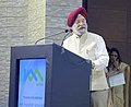 The Minister of State for Housing and Urban Affairs (IC), Shri Hardeep Singh Puri delivering the presidential address, at the inaugural ceremony of the second reach of Kochi Metro, in Kochi on October 03, 2017.jpg