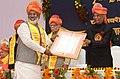 The President, Shri Ram Nath Kovind during the 7th convocation of Jagadguru Rambhadracharya Handicapped University, at Chirakoot, in Uttar Pradesh on January 08, 2018.jpg