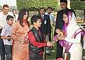 "The President, Smt. Pratibha Devisingh Patil receiving greetings from all walks of life, on the occasion of ""Diwali"", at Rashtrapati Bhavan, in New Delhi on November 05, 2010 (1).jpg"