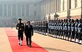 The President of the Republic of Maldives, Mr. Abdulla Yameen Abdul Gayoom inspecting the Guard of Honour, at the Ceremonial Reception, at Rashtrapati Bhavan, in New Delhi on January 02, 2014.jpg