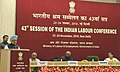 The Prime Minister, Dr. Manmohan Singh delivering the inaugural address at the 43rd session of Indian Labour Conference, in New Delhi on November 23, 2010 (1).jpg