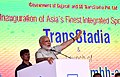 The Prime Minister, Shri Narendra Modi addressing at the ceremony to inaugurate the TransStadia Integrated Sports & Entertainment Arena Project & Khel Mahakhumbh-2017, in Ahmedabad, Gujarat on June 30, 2017.jpg