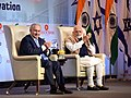 The Prime Minister, Shri Narendra Modi and the Prime Minister of Israel, Mr. Benjamin Netanyahu at the India-Israel Business Summit, in New Delhi on January 15, 2018 (3).jpg
