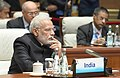 The Prime Minister, Shri Narendra Modi at the Plenary Session of the 9th BRICS Summit, in Xiamen, China on September 04, 2017.jpg