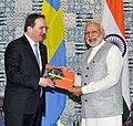 The Prime Minister, Shri Narendra Modi holding bilateral talks with the Prime Minister of Sweden, Mr. Stefan Lofven, at the Make in India Centre, in Mumbai on February 13, 2016.jpg