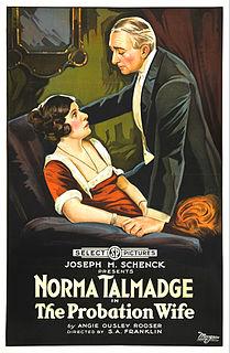 <i>The Probation Wife</i> 1919 film by Sidney Franklin