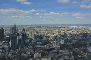 The View from The Shard - External view from the indoor viewing gallery